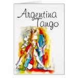 Argentina tango greeting cards