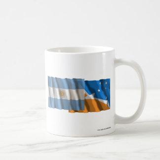 Argentina & Tierra del Fuego waving flags Basic White Mug