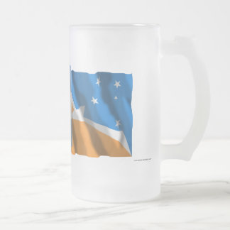 Argentina & Tierra del Fuego waving flags Frosted Glass Mug