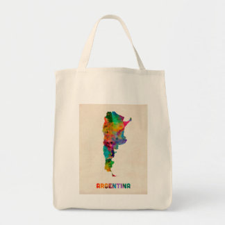 Argentina Watercolor Map Tote Bag