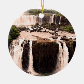 Argentina Waterfalls Christmas Ornament
