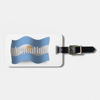 Argentina Waving Flag Luggage Tag