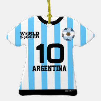 Argentina World Cup Soccer Jersey Ornament