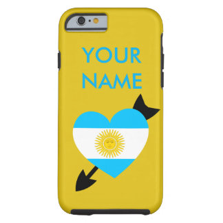 Argentine Flag Heart Tough iPhone 6 Case