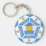 Argentine futebol Tees and soccer ball gear Key Chain