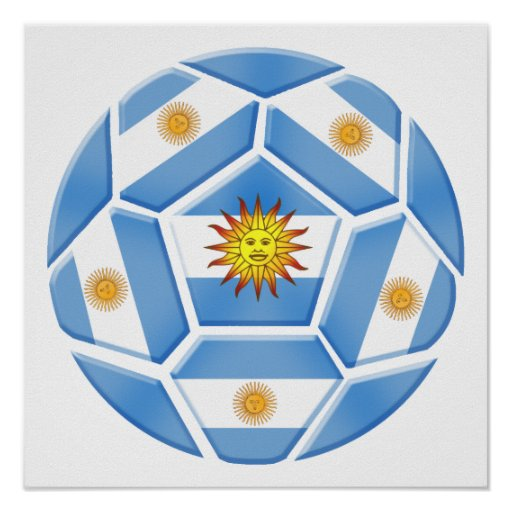 Argentine futebol Tees and soccer ball gear Posters