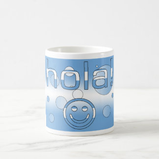 Argentine Gifts : Hello / Hola + Smiley Face Basic White Mug