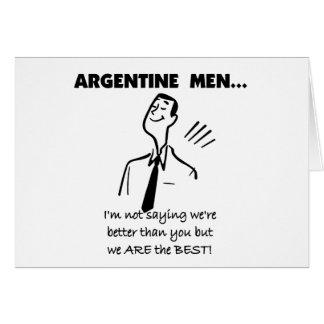 Argentine Men Card