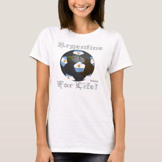 Argentine Soccer Fan 4 Life Spaghetti Strap T-Shirt