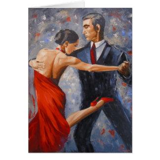 Argentine tango card