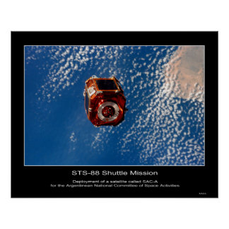 Argentinean SAC-A Satellite deploy... Poster