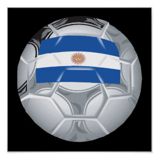 Argentinean Soccer Ball Poster