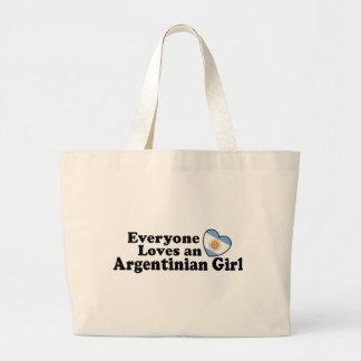 Argentinian Girl Jumbo Tote Bag