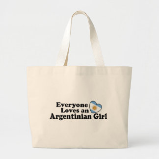 Argentinian Girl Large Tote Bag