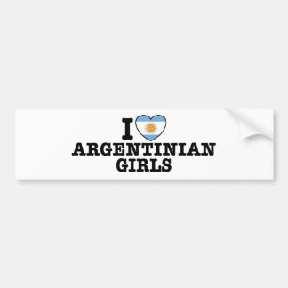 Argentinian Girls Bumper Sticker