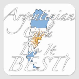 Argentinian Girls Do It Best! Square Sticker