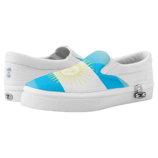 Argentinian glossy flag printed shoes