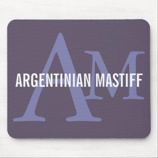 Argentinian Mastiff Breed Monogram Design Mouse Pad