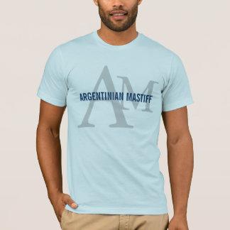 Argentinian Mastiff Breed Monogram Design T-Shirt