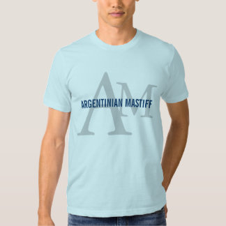 Argentinian Mastiff Breed Monogram Design Tshirts