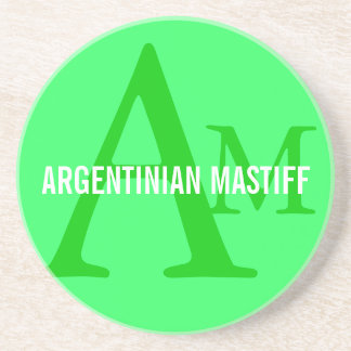 Argentinian Mastiff Monogram Design Drink Coasters