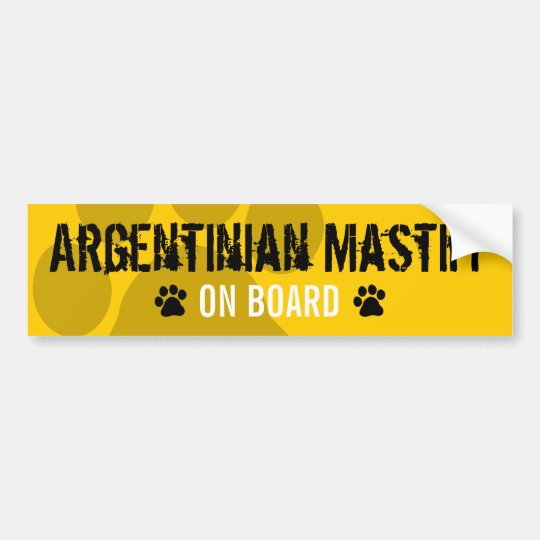 Argentinian Mastiff on Board Bumper Sticker
