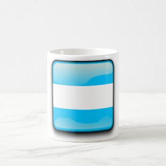Argentinian polished flag basic white mug