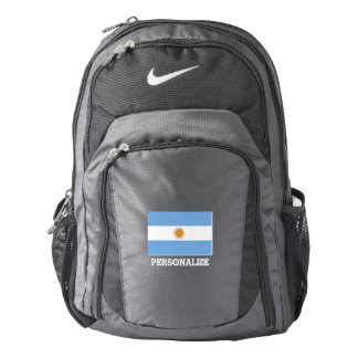 Argentinian pride flag of Argentina personalized Backpack