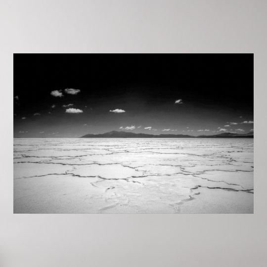 Argentinian Salt Flats Desert And Mountains Poster