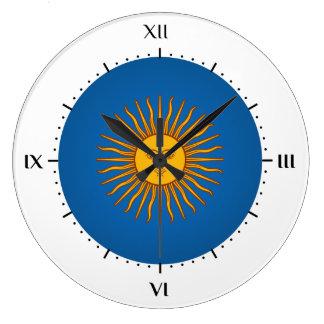 Argentinian sol de mayo large clock