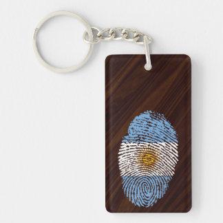 Argentinian touch fingerprint flag Double-Sided rectangular acrylic key ring