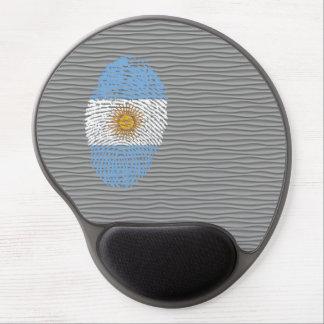Argentinian touch fingerprint flag gel mouse pad