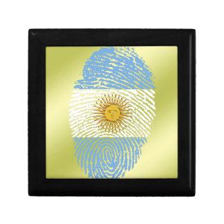 Argentinian touch fingerprint flag gift box