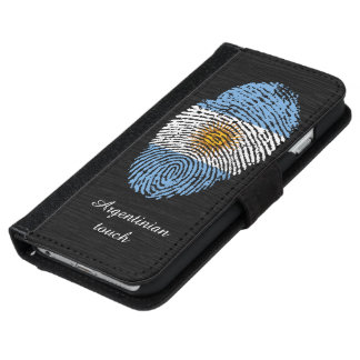 Argentinian touch fingerprint flag iPhone 6 wallet case
