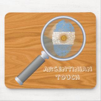 Argentinian touch fingerprint flag mouse mat