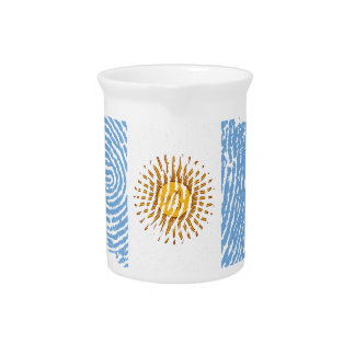 Argentinian touch fingerprint flag pitcher