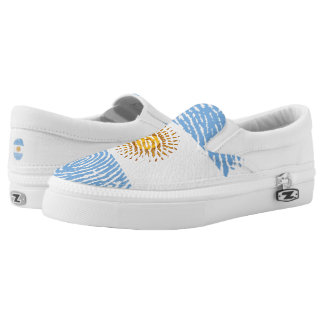 Argentinian touch fingerprint flag printed shoes