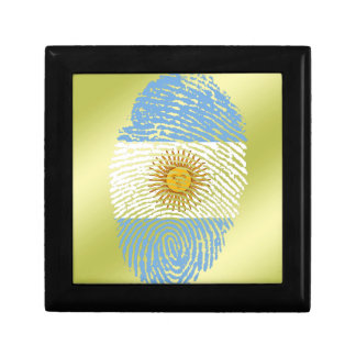 Argentinian touch fingerprint flag small square gift box