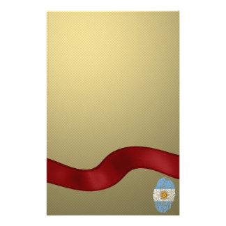 Argentinian touch fingerprint flag stationery