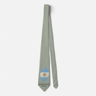 Argentinian touch fingerprint flag tie