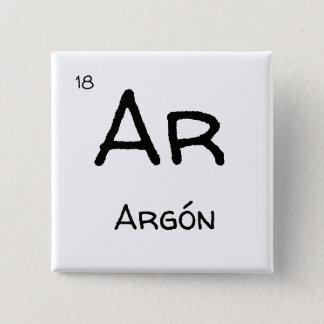 argon  gas 15 cm square badge