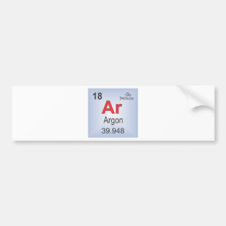 Argon Individual Element of the Periodic Table Bumper Sticker