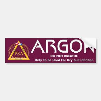 Argon Label Bumper Sticker