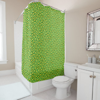 Argos Green & Yellow Shower Curtain