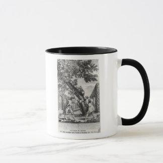 Argument between Jean-Jacques Rousseau Mug