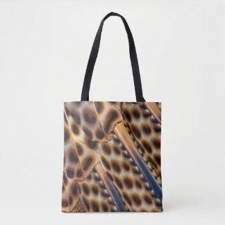 Argus Pheasant Feather Design Tote Bag