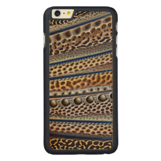 Argus Pheasant wing feathers Carved Maple iPhone 6 Plus Case