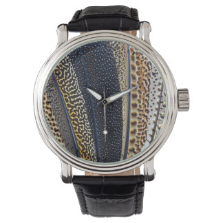 Argus Pheasant wing feathers Wristwatch