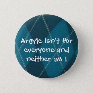 Argyle 6 Cm Round Badge