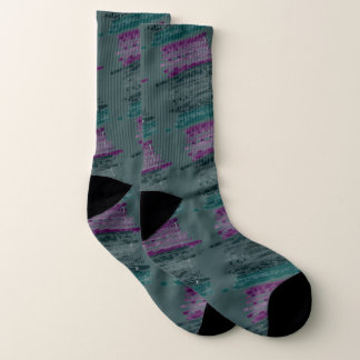 Argyle Artsy Design Purple and Green Socks